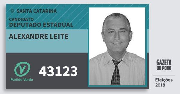 Santinho Alexandre Leite 43123 (PV) Deputado Estadual | Santa Catarina | Eleições 2018