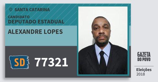 Santinho Alexandre Lopes 77321 (SOLIDARIEDADE) Deputado Estadual | Santa Catarina | Eleições 2018
