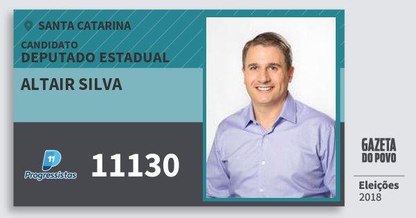 Santinho Altair Silva 11130 (PP) Deputado Estadual | Santa Catarina | Eleições 2018
