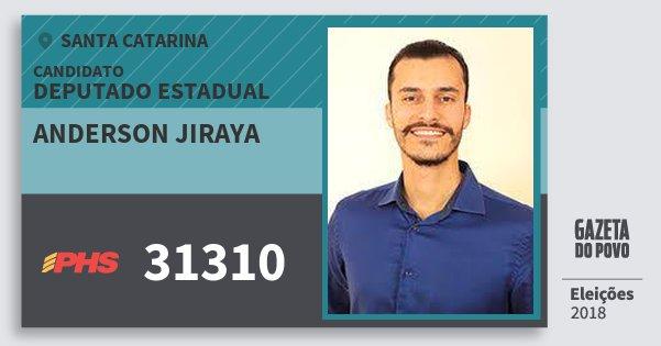 Santinho Anderson Jiraya 31310 (PHS) Deputado Estadual | Santa Catarina | Eleições 2018