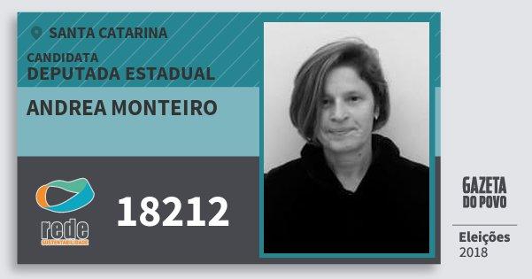 Santinho Andrea Monteiro 18212 (REDE) Deputada Estadual | Santa Catarina | Eleições 2018