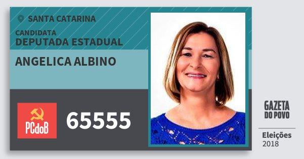 Santinho Angelica Albino 65555 (PC do B) Deputada Estadual | Santa Catarina | Eleições 2018