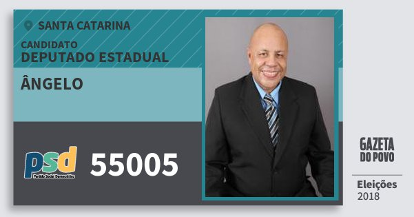 Santinho Ângelo 55005 (PSD) Deputado Estadual | Santa Catarina | Eleições 2018