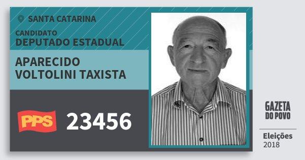 Santinho Aparecido Voltolini Taxista 23456 (PPS) Deputado Estadual | Santa Catarina | Eleições 2018