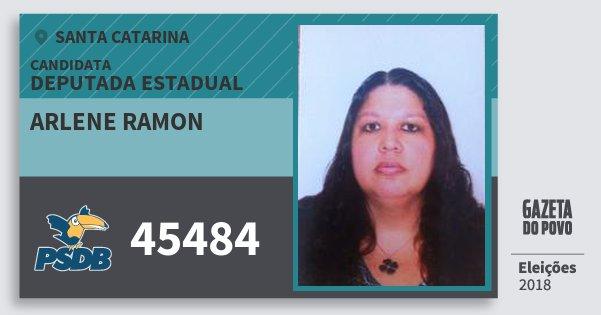 Santinho Arlene Ramon 45484 (PSDB) Deputada Estadual   Santa Catarina   Eleições 2018