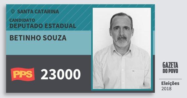 Santinho Betinho Souza 23000 (PPS) Deputado Estadual | Santa Catarina | Eleições 2018