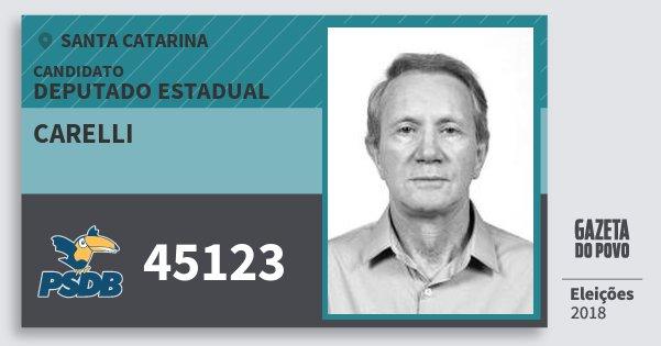 Santinho Carelli 45123 (PSDB) Deputado Estadual | Santa Catarina | Eleições 2018