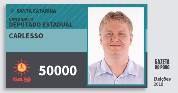 Santinho Carlesso 50000 (PSOL) Deputado Estadual | Santa Catarina | Eleições 2018