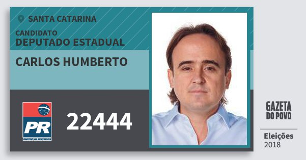 Santinho Carlos Humberto 22444 (PR) Deputado Estadual | Santa Catarina | Eleições 2018