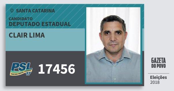 Santinho Clair Lima 17456 (PSL) Deputado Estadual | Santa Catarina | Eleições 2018