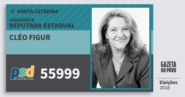 Santinho Cléo Figur 55999 (PSD) Deputada Estadual | Santa Catarina | Eleições 2018