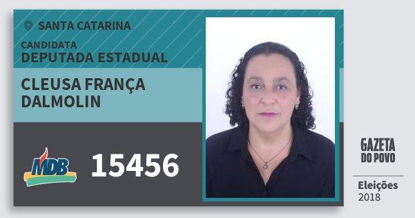 Santinho Cleusa França Dalmolin 15456 (MDB) Deputada Estadual | Santa Catarina | Eleições 2018