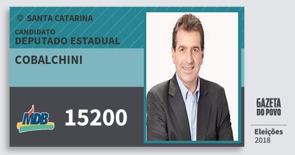Santinho Cobalchini 15200 (MDB) Deputado Estadual | Santa Catarina | Eleições 2018
