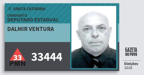Santinho Dalmir Ventura 33444 (PMN) Deputado Estadual | Santa Catarina | Eleições 2018