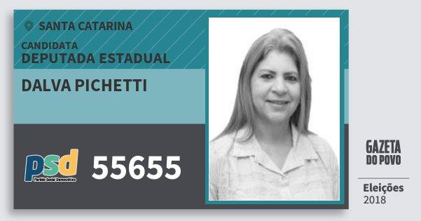 Santinho Dalva Pichetti 55655 (PSD) Deputada Estadual | Santa Catarina | Eleições 2018