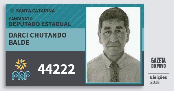 Santinho Darci Chutando Balde 44222 (PRP) Deputado Estadual | Santa Catarina | Eleições 2018