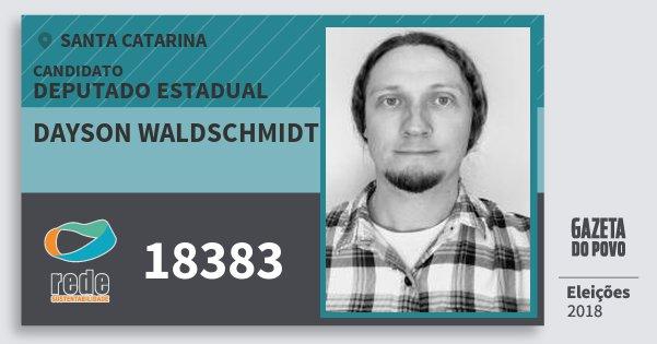 Santinho Dayson Waldschmidt 18383 (REDE) Deputado Estadual | Santa Catarina | Eleições 2018