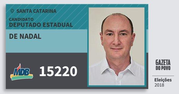 Santinho de Nadal 15220 (MDB) Deputado Estadual | Santa Catarina | Eleições 2018