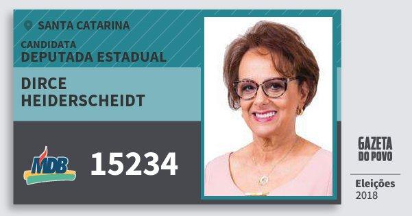 Santinho Dirce Heiderscheidt 15234 (MDB) Deputada Estadual | Santa Catarina | Eleições 2018