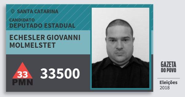 Santinho Echesler Giovanni Molmelstet 33500 (PMN) Deputado Estadual | Santa Catarina | Eleições 2018
