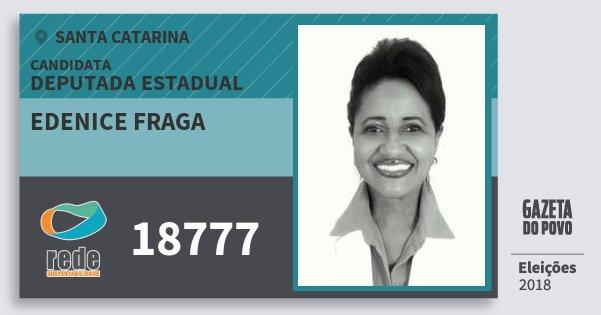 Santinho Edenice Fraga 18777 (REDE) Deputada Estadual   Santa Catarina   Eleições 2018
