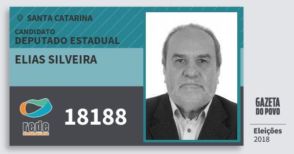 Santinho Elias Silveira 18188 (REDE) Deputado Estadual | Santa Catarina | Eleições 2018