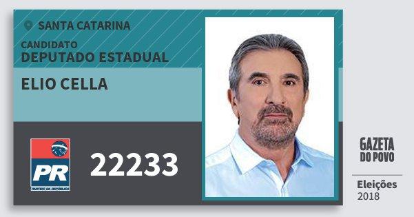 Santinho Elio Cella 22233 (PR) Deputado Estadual   Santa Catarina   Eleições 2018