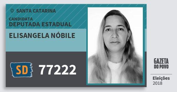 Santinho Elisangela Nóbile 77222 (SOLIDARIEDADE) Deputada Estadual | Santa Catarina | Eleições 2018