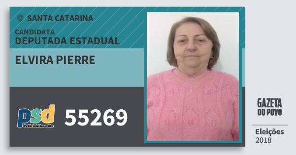 Santinho Elvira Pierre 55269 (PSD) Deputada Estadual | Santa Catarina | Eleições 2018
