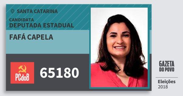 Santinho Fafá Capela 65180 (PC do B) Deputada Estadual | Santa Catarina | Eleições 2018