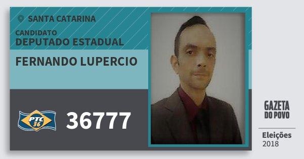 Santinho Fernando Lupercio 36777 (PTC) Deputado Estadual | Santa Catarina | Eleições 2018