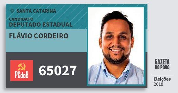 Santinho Flávio Cordeiro 65027 (PC do B) Deputado Estadual | Santa Catarina | Eleições 2018