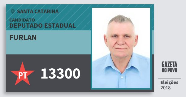 Santinho Furlan 13300 (PT) Deputado Estadual | Santa Catarina | Eleições 2018