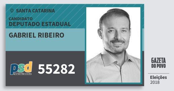 Santinho Gabriel Ribeiro 55282 (PSD) Deputado Estadual | Santa Catarina | Eleições 2018