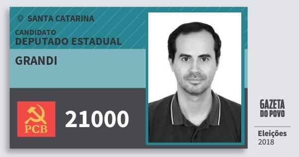 Santinho Grandi 21000 (PCB) Deputado Estadual   Santa Catarina   Eleições 2018