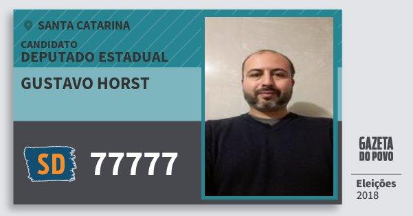 Santinho Gustavo Horst 77777 (SOLIDARIEDADE) Deputado Estadual | Santa Catarina | Eleições 2018