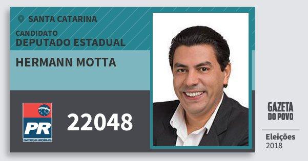 Santinho Hermann Motta 22048 (PR) Deputado Estadual | Santa Catarina | Eleições 2018
