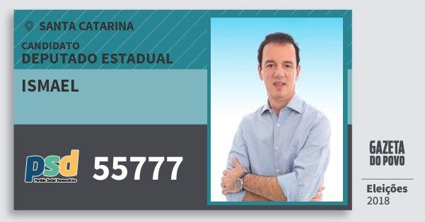 Santinho Ismael 55777 (PSD) Deputado Estadual | Santa Catarina | Eleições 2018