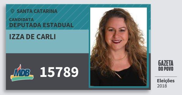 Santinho Izza de Carli 15789 (MDB) Deputada Estadual   Santa Catarina   Eleições 2018