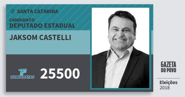 Santinho Jaksom Castelli 25500 (DEM) Deputado Estadual | Santa Catarina | Eleições 2018