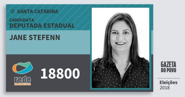 Santinho Jane Stefenn 18800 (REDE) Deputada Estadual | Santa Catarina | Eleições 2018