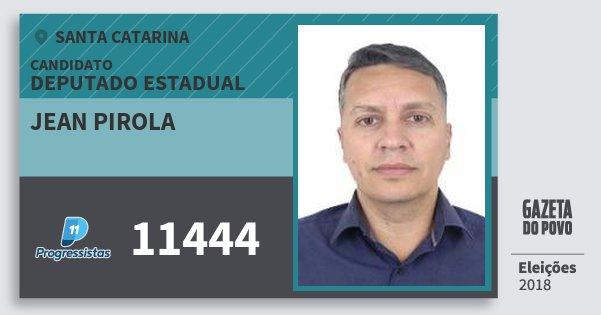 Santinho Jean Pirola 11444 (PP) Deputado Estadual | Santa Catarina | Eleições 2018
