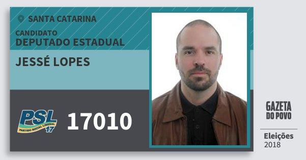 Santinho Jessé Lopes 17010 (PSL) Deputado Estadual | Santa Catarina | Eleições 2018
