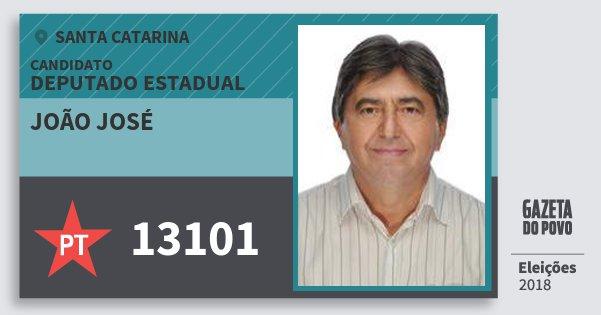 Santinho João José 13101 (PT) Deputado Estadual | Santa Catarina | Eleições 2018