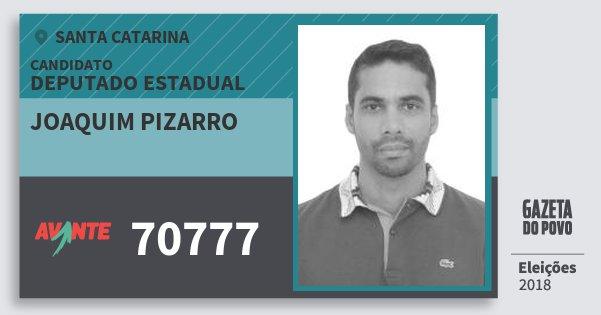 Santinho Joaquim Pizarro 70777 (AVANTE) Deputado Estadual | Santa Catarina | Eleições 2018