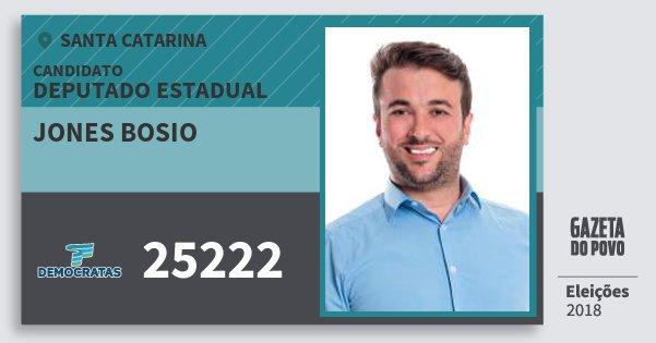 Santinho Jones Bosio 25222 (DEM) Deputado Estadual | Santa Catarina | Eleições 2018