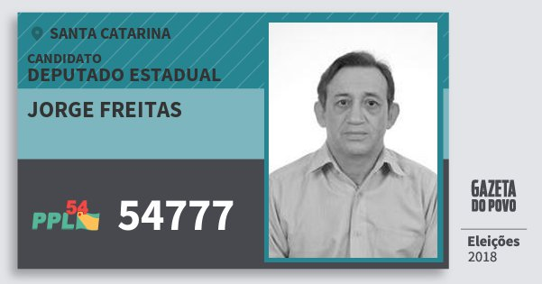 Santinho Jorge Freitas 54777 (PPL) Deputado Estadual | Santa Catarina | Eleições 2018
