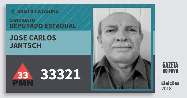 Santinho Jose Carlos Jantsch 33321 (PMN) Deputado Estadual | Santa Catarina | Eleições 2018