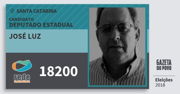 Santinho José Luz 18200 (REDE) Deputado Estadual | Santa Catarina | Eleições 2018
