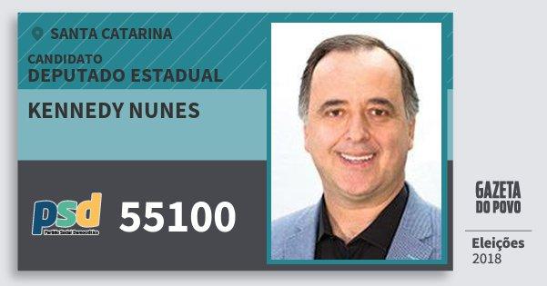 Santinho Kennedy Nunes 55100 (PSD) Deputado Estadual | Santa Catarina | Eleições 2018